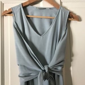 Tommy Bahama Sleevless Tie Front Silk Dress